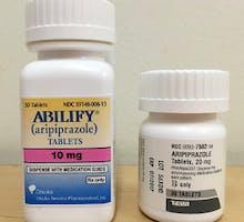 a bottle of Abilify & aripiprazole, digital pills