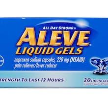package of Aleve Liquid Gels
