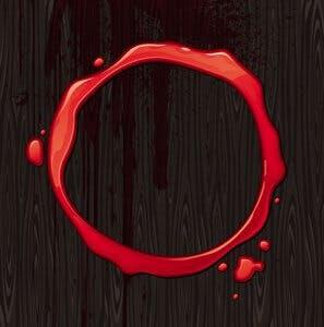 blood red ring