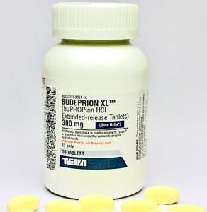 a bottle of budeprion xl 300mg