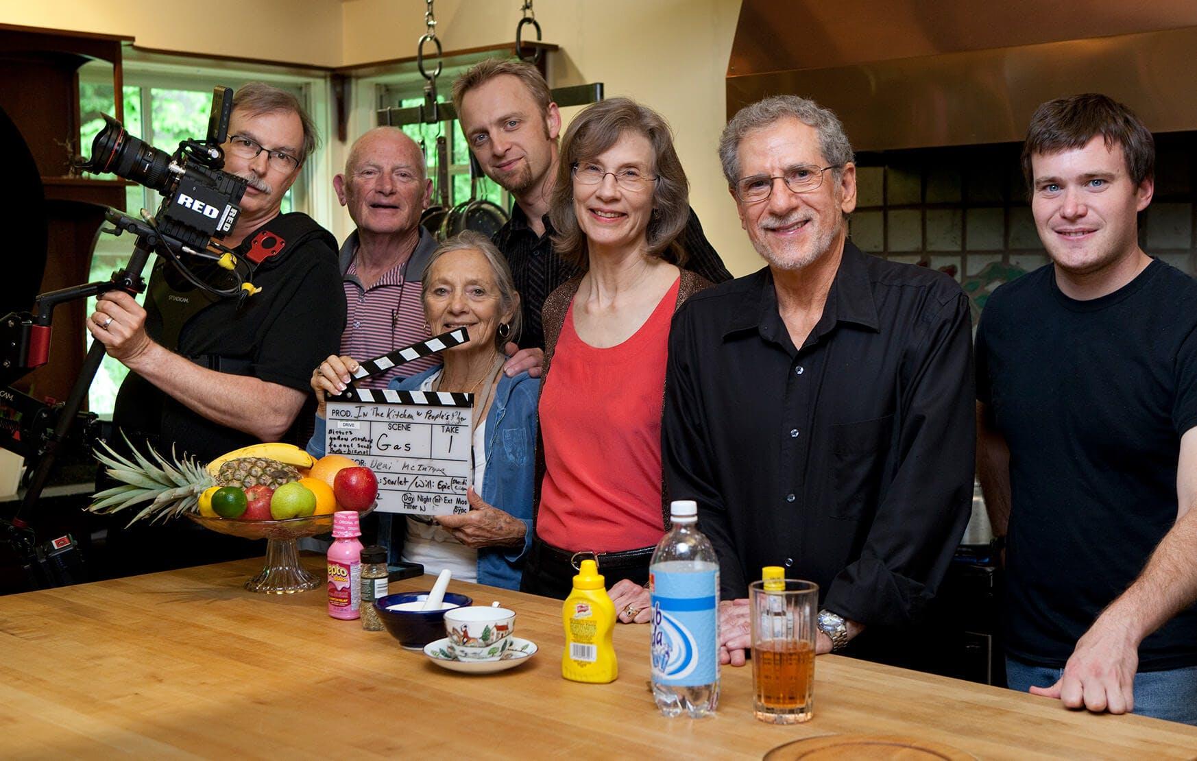Joe and Terry Graedon with film crew