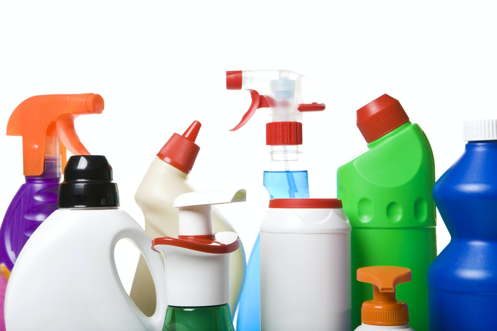 Collection of hygiene cleaners for housework, photo detail