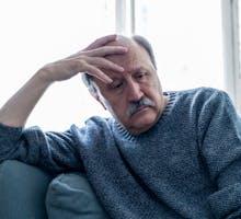 lonely depressed older man