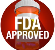 FDA Approved pill bottle illustration