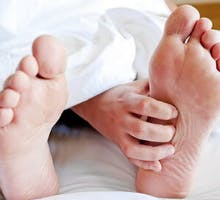 grabbing the sole of the foot in neuropathic pain