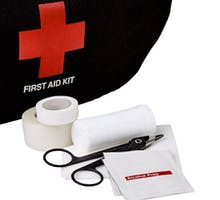 tape, gauze and alcohol wipe