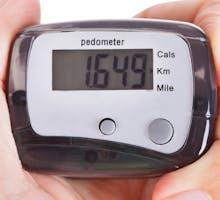 digital pedometer measures step count