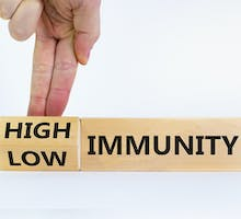 fingers point to High or Low Immunity