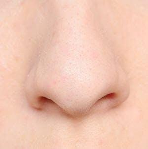 Close up shot of a human nose