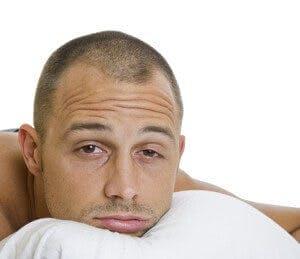 sleepy man