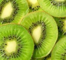 kiwi fruit slices close up