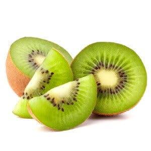 Kiwi fruit sliced segments