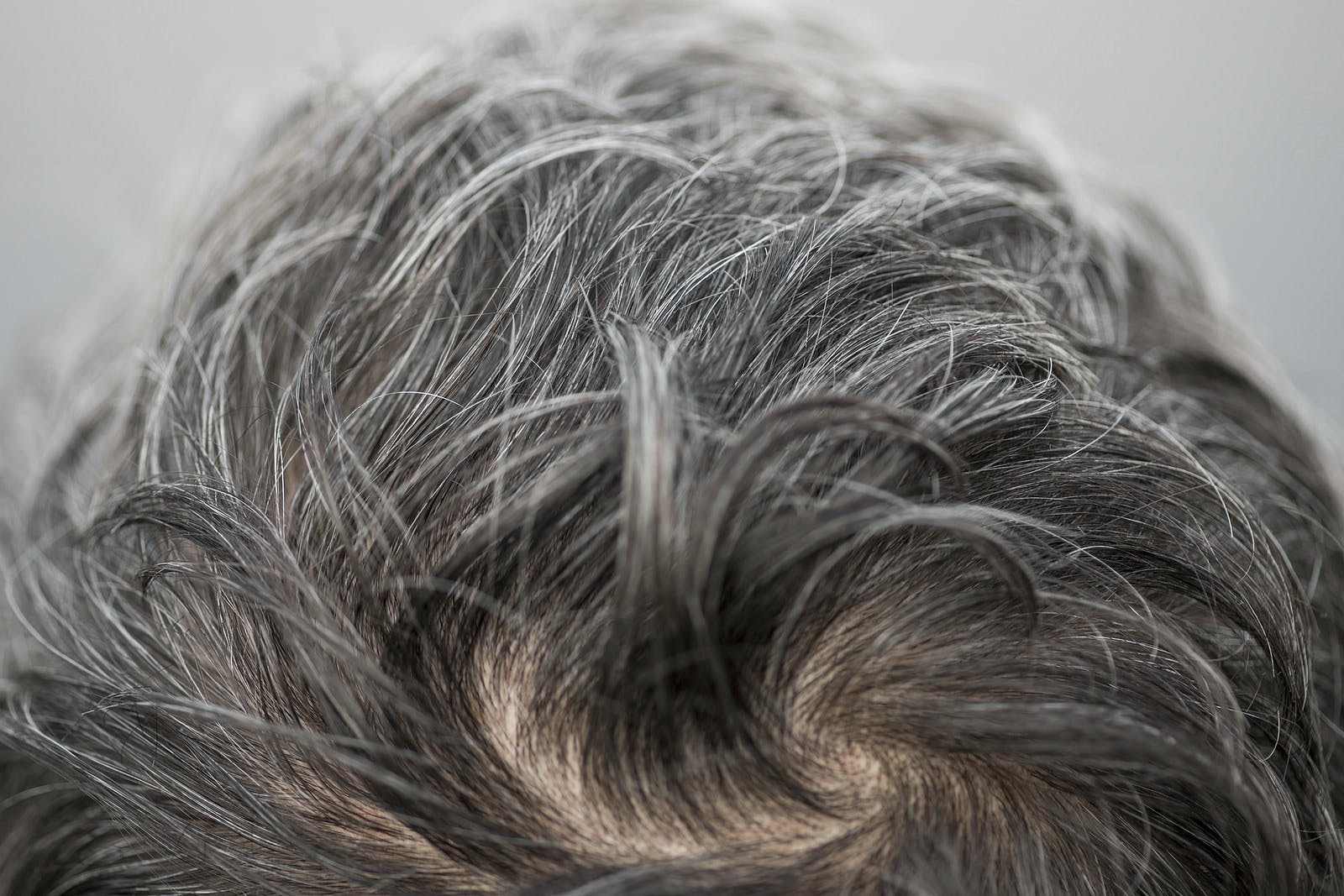 Main with a lot of gray hair