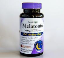 Bottle of 5mg Melatonin tablets