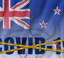 New Zealand flag and COVID-19