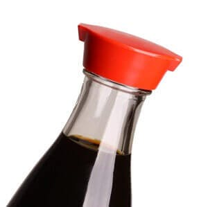 Close up image on classic japanese soy sauce