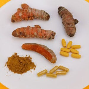 turmeric pills capsules ground rhizome