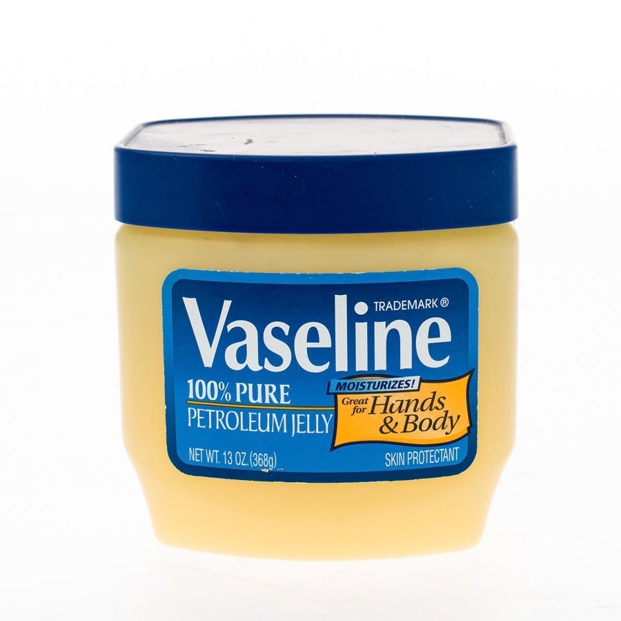 Winneconne WI – 20 April 2015: Jar of Vaseline petroleum jelly