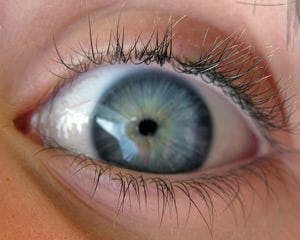 close up of a wide open eye