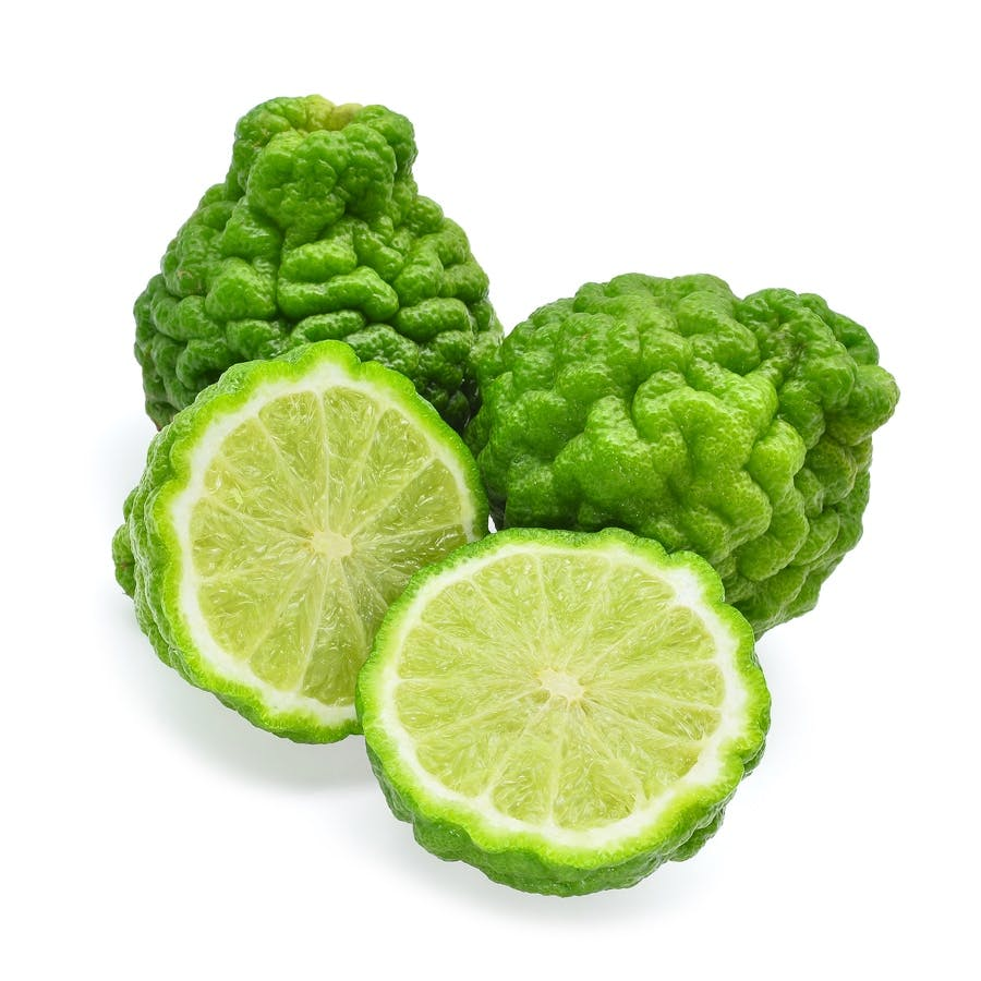 bergamot citrus fruits, cut and whole, strong distinctive smell