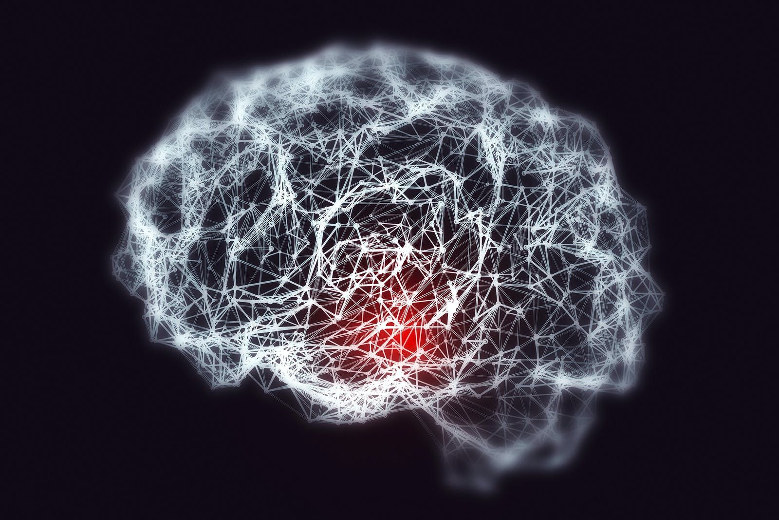 Dementia and Alzheimer's disease medical concept, 3D illustration. Memory loss, brain aging. Conceptual image showing blurred brain with loss of neuronal networks