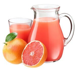 pitcher of grapefruit juice