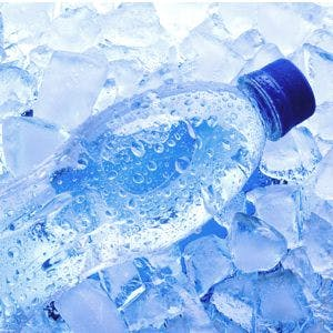 refreshing ice cold water