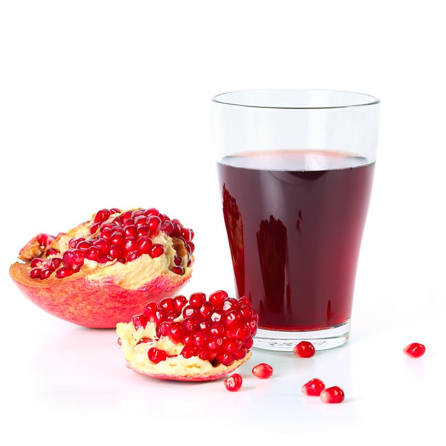 pomegranate juice and pomegranate seeds