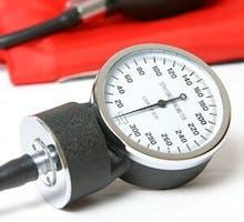 a sphygmomanometer (blood pressure monitor)